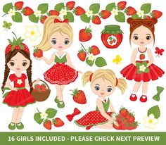 70% OFF SALE Strawberry Clipart Vector Strawberry Clipart
