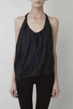 blouses, silk blous, fashion styles, bones, street styles, party outfits, black jeans, tank, acn 2013ss