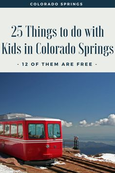 Check out these 25 Amazing Things to do in Colorado Springs, plus the best part is 12 of them are FREE! Learn about kid-friendly activities like the Garden of the Gods Park; Pikes Peak; and more awesome kid-friendly outdoor adventures in Colorado Springs.