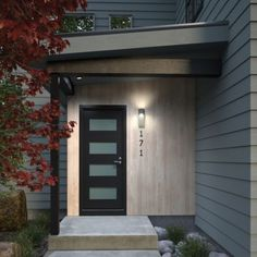 When designing your backyard, don't forget to carefully plan your lighting as well. Get great ideas for your backyard oasis here with our landscape lighting design ideas. Exterior Paint Colors For House, Paint Colors For Home, House Colors, Outdoor Wall Sconce, Outdoor Walls, Outdoor Lighting, Lighting Ideas, Landscape Lighting, Garage Door Design