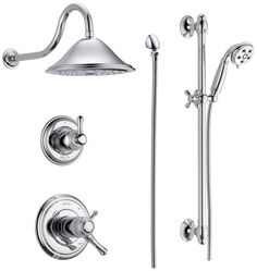 Delta DSS Cassidy 17T01 TempAssure 17T Series Thermostatic Shower System  With In Chrome Faucet