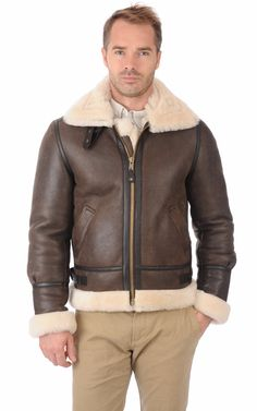 Choosing The Right Men's Leather Jackets. A leather coat is a must for every single guy's closet and is also an excellent method to express his personal design. Leather coats never ever head Peau Lainee, Revival Clothing, Sheepskin Coat, The Right Man, Leather Men, Leather Jackets, Mens Fashion, Outfits, Clothes