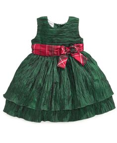 Blueberi Boulevard Baby Dress, Baby Girls Special Occasion Crinkle Dress