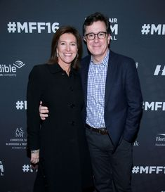 """Stephen Colbert Photos - Evelyn Colbert, Vice-Chairman of the Board MFF (L) and Stephen Colbert attend the Montclair Film Festival 2016 Opening Night """"Life Animated"""" on April 30, 2016 in Montclair City. - Montclair Film Festival 2016 Opening Night 'Life Animated'"""