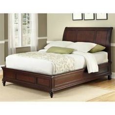 Check out the Home Styles 5537-600 Lafayette King Sleigh Bed in Rich Cherry priced at $671.41 at Homeclick.com.