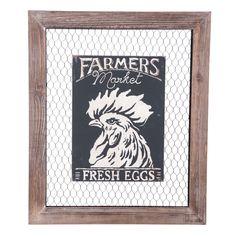 Foreside Home & Garden - Fresh Eggs Wall Art