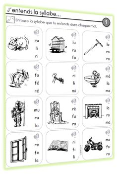 Exercices de lecture / phonologie - CP - Chez Lutin Bazar Read In French, French Kids, Learn French, Reading Games, Speech Therapy Activities, Speech Language Pathology, Phonemic Awareness, Teaching French, Teaching Tips