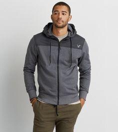 Light Grey AEO Active Flex Any/Wear Hoodie