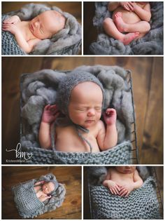 rustic newborn photography - lots of textured used during newborn session