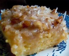 Once you taste this Peach Cake with Coconut Pecan Frosting you'll think you are eating a dessert from a gourmet bakery!
