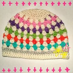 Cows and Pink: Happy granny hat pattern