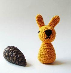 nursery rattle Easter Bunny Crocheted by sabahnur on Etsy,