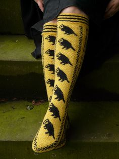 Ravelry: Hufflepuff Pride Socks pattern by Ann Kingstone /// in other news, I need these like burning. To the knitting needles!