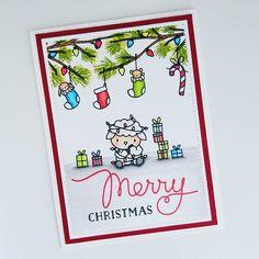 ! Another one layer #holidaycard using #stamps from @mamaelephant ! #mamaelephant #happyholiday