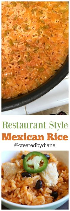 Restaurant style Mexican Rice recipe you can make at home easily and quickly. Restaurant style Mexican Rice recipe you can make at home easily and quickly. Mexican Fried Rice, Mexican Rice Recipes, Rice Recipes For Dinner, Mexican Dishes, Mexican Meals, Rice Dishes, Main Dishes, Cooking Recipes, Healthy Recipes