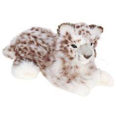 Hansa Laying Snow Leopard Plush Toy, White