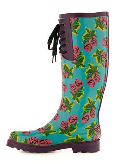 love the power colors on these betsey johnson rain boots!