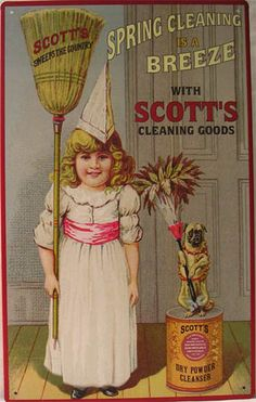 Scott's Cleaning Goods | Tin Sign
