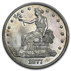 1877 Trade Dollar Unc Details Light Scratches Silver Uncirculated *** You can get more details by clicking on the image. This Amazon pins is an affiliate link to Amazon.