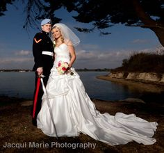 Military wedding by the water, photographed by Hampshire wedding photographers Jacqui Marie Photography. VISIT http://jacqui-marie-photography.co.uk for details.