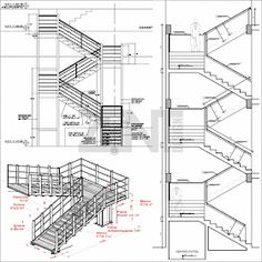 Marvelous Home Design Architectural Drawing Ideas. Spectacular Home Design Architectural Drawing Ideas. Interior Architecture Drawing, Stairs Architecture, Architecture Details, Balcony Railing Design, Home Stairs Design, House Design, Civil Engineering Design, Stair Detail, Exterior Stairs