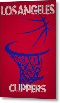 Clippers Metal Print featuring the photograph Los Angeles Clippers Hoop by Joe Hamilton