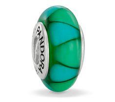 Pandora Green Captivating Murano Glass Charm 790636