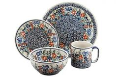 Garden Butterfly 16 Piece Dinner Set
