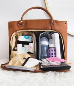 PacaPod Mirano Leather Changing Bag - bringing order to chaos for mothers everywhere.