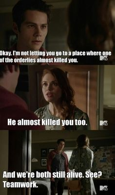 "#TeenWolf 5x05 ""A Novel Approach"" - Stiles and Lydia"