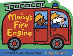 Who can resist riding on a fire engine with Maisy?    NEE-NAH, NEE-NAH! Maisy and Cyril are driving a fire engine today. First theyhave to check the water in the hose. SWOOSH! Uh-oh! Look out, little cat! Nowthe cat is scared and climbs up on the roof and won't come down. Butfirefighters Maisy and Cyril come to the rescue — and then they're off for aride in their shiny red truck! Maisy Mouse, Feminist Books, Shape Books, Scared Cat, Cat Climbing, Fire Engine, Niece And Nephew, Used Books, Book Gifts