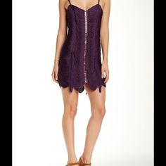 Free People Fringe Cocktail Party dress Gorgeous Free People Plum Fringe/Tassel Dress Size 6 measurement length 26 waist/28 bust /26 runs small more like a size 4 Free People Dresses
