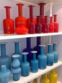 A real Holmegaard collection. I love colored glass. Art Of Glass, My Glass, Glass Vase, Mid Century Art, Mid Century Design, Art Nouveau, Glas Art, Scandinavian Art, Murano