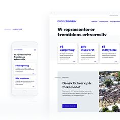 The Redesign of Dansk Erhverv on Behance