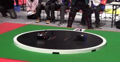 Introducing Robo-Sumo. Just like the traditional Japanese sport, but with robots instead of people. The catch: they're completely autonomous.