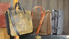 Zip Work Bag in Leather or Merino Wool. Choose your color, strap, hardware and pockets.