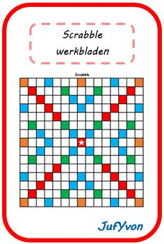 ©JufYvon: Scrabble werkbladen Scrabble Spelling, Board Game Template, Co Teaching, Blog Planner, Love My Job, Primary School, Classroom Management, Vocabulary, Language