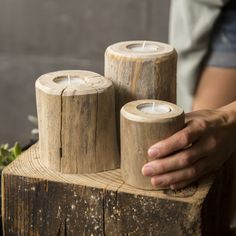 Fully embrace sustainable living with this non-processed Driftwood Candleholder. Harvested from the shoreline of Lake Erie by the Susie Frazier team, rugged driftwood logs have been repurposed into or