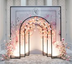 Photo-backdrop with some layers Wedding planner: Design, decor, flowers, photo: Venue:… Wedding Backdrop Design, Wedding Stage Decorations, Backdrop Decorations, Wedding Backdrops, Wedding Entrance, Wedding Ceremony, Luxury Wedding, Dream Wedding, Photowall Ideas