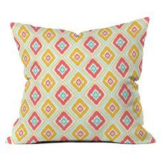 Have to have it. DENY Designs Jacqueline Maldonado Zig Zag Ikat White Outdoor Throw Pillow - $49 @hayneedle
