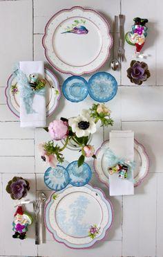 Beautiful table settings by Lisbeth Dahl Copenhagen Spring/Summer 13. #LisbethDahlCph #Kitchen #Porcelain #kitchen #Beautiful #Table #Settings