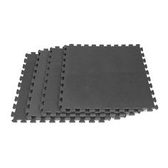 Create a comfortable home gym or play room for children with this 16 square foot black foam flooring tiles. With its interlocking padded tiles and slip-resistant surface, this flooring is durable and functional. The flooring is easy to wipe clean. Foam Floor Tiles, Foam Flooring, Rubber Flooring, Floor Mats, Garage Flooring, Flooring Tiles, Kids Play Area, Play Areas, Set Cover