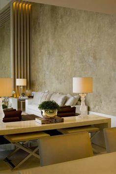 Apartamento no Alto de Pinheiros / Debora Aguiar #living #wall #lighting