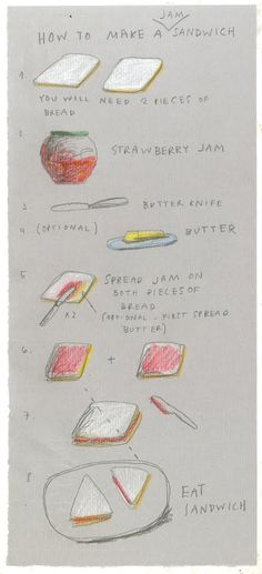 how to make a jam sandwich - i just love the way this is illustrated