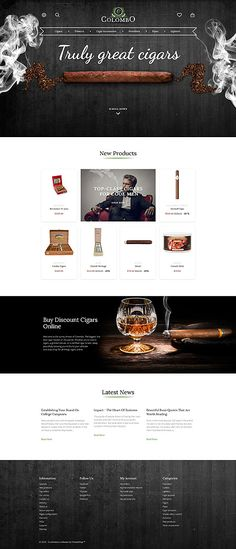 Truly Great Cigars Online Store #Prestashop #template. #themes #business…