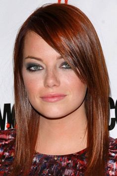 New hair color auburn bangs emma stone 50 ideas Hair Color Auburn, Auburn Hair, New Hair Colors, Hair Colour, Color Red, My Hairstyle, Pretty Hairstyles, Emma Stone Hair Color, Actress Emma Stone
