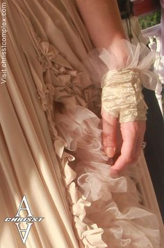 Gloves Wedding Lace Beautiful luxe bridal gloves with by chrisst, $69.00