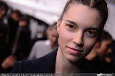 Model Eliza Hartmann for Custo Barcelona AW15 NYFW 2/15/15