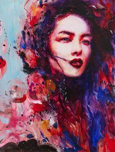 "Azalea by Charmaine Olivia   Oil on panel 18x24"""