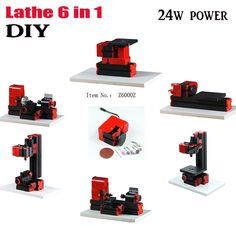 96.89$  Buy here - http://alif6t.worldwells.pw/go.php?t=32644537980 - diy 6 in 1 Mini Lathe,Milling,Drilling ,Wood Turning ,Jag Saw and Sanding Machine,Mini Combined Machine Tool, DIY Tool ship DHL